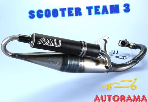 codice coupon buono autentico MARMITTA Polini SCOOTER TEAM 3 Minarelli orizzontale 200.0283