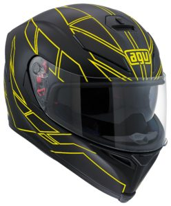 Casco integrale Agv K5 Hero Black Yellow Fluo