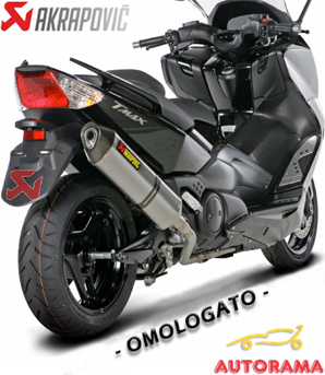 scarico akrapovic t max 2008 2011 titanio omologato autorama. Black Bedroom Furniture Sets. Home Design Ideas