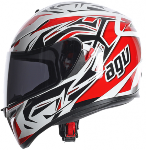 Agv_K3_SV_ROOKIE_WHITE-GUNMETAL-RED
