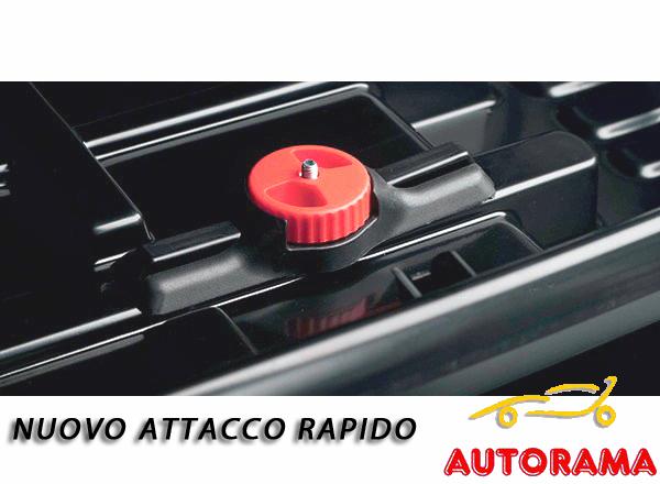 MOOVE Baule Box Portatutto da Tetto Auto 370 Litri Nero Opaco Fiat Panda 75 kg di Carico Aerodinamico