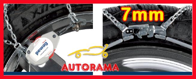 Catene Neve 7mm PEWAG SERVO SPORT RSS79 Per Auto Non Catenabili Gomme 225//60R18