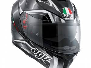 Agv k-5-s hurricane black gunmetal white