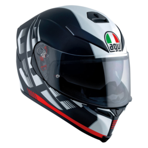 agv k-5 s darkstorm matt black red pinlock plk