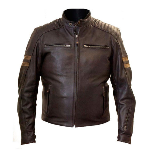 best sneakers 6f240 d0685 Giacca Moto In Pelle LEGEND LEM Marrone