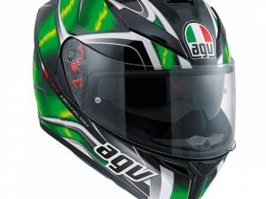 Agv K-5 S Hurricane black green white plk