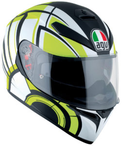 agv k3 sv multi plk aviator matt white lime pinlock