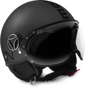casco momo design fighter evo titanium frost black