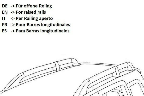 BARRE Portatutto MODULA Universali ANTIFURTO Telescopiche Tetto Railing APERTI