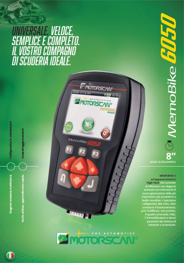 Diagnostico MOTORSCAN Diagnosi Moto
