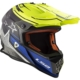 Casco Cross LS2 mx437 fast core nero giallo